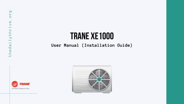 Trane XE1000 User Manual Installation Guide