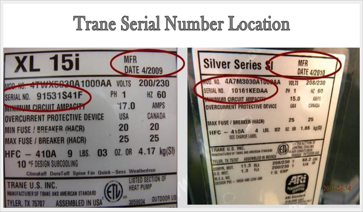 How To Tell Age of Trane Serial Number Unit