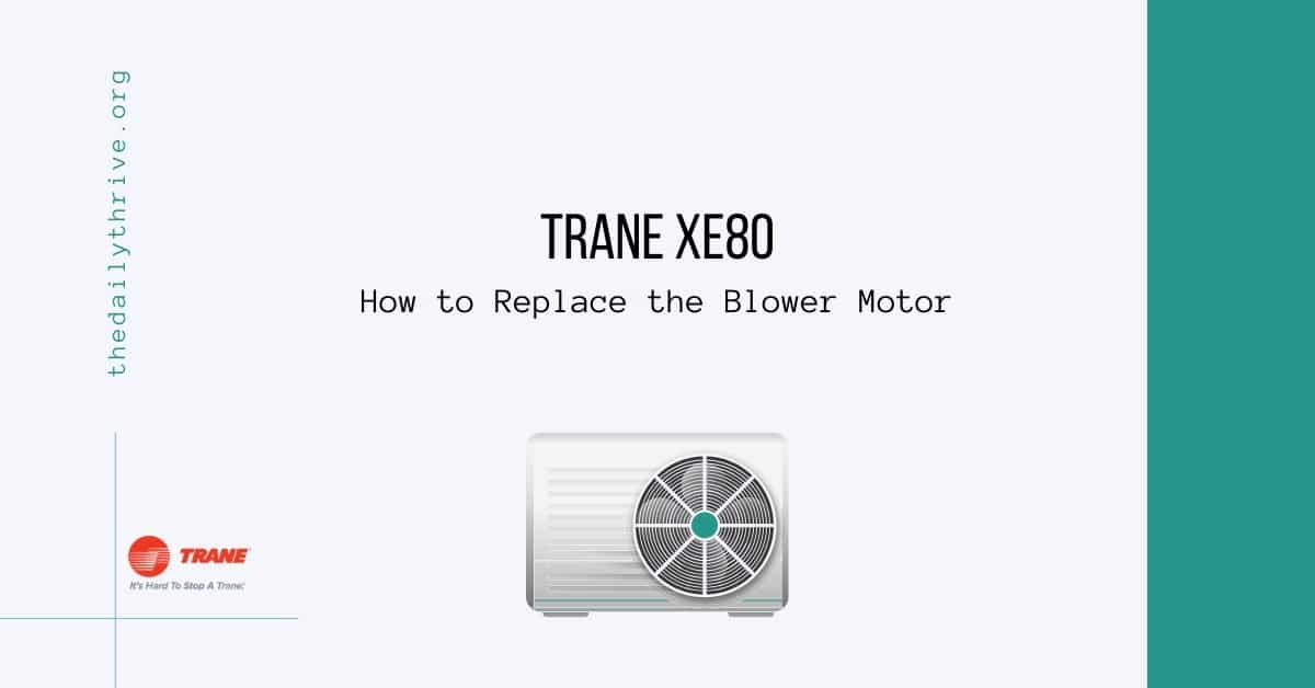 Trane xe80 How to Replace the Blower Motor