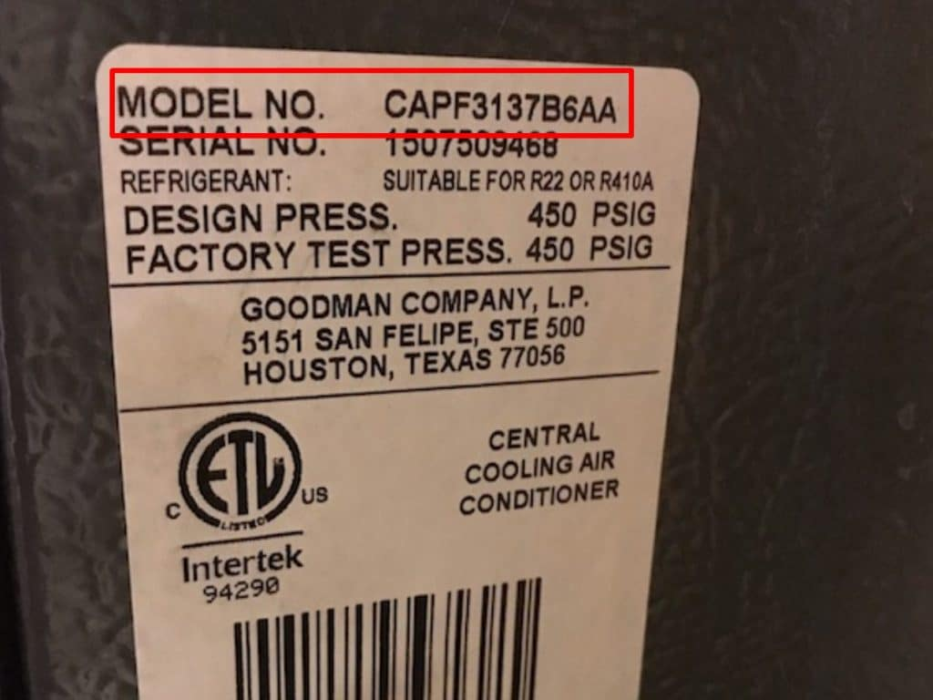 How to Find AC Tonnage from Model Number?