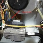 Location of the Trane xe80 Furnace Reset Button