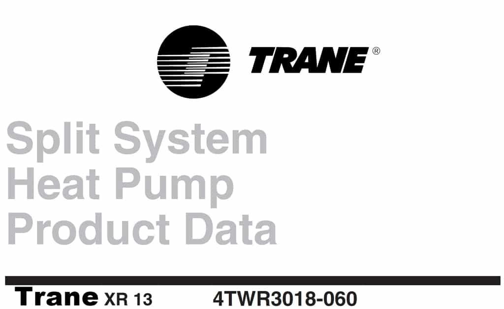 Trane XR13 Manual - PDF