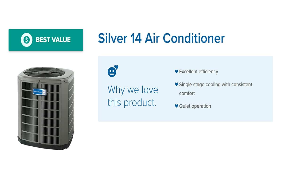 American Standard Silver 14 Air Conditioner Price & Reviews