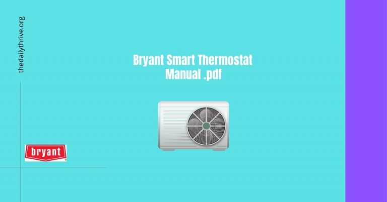 Bryant Smart Thermostat Manual