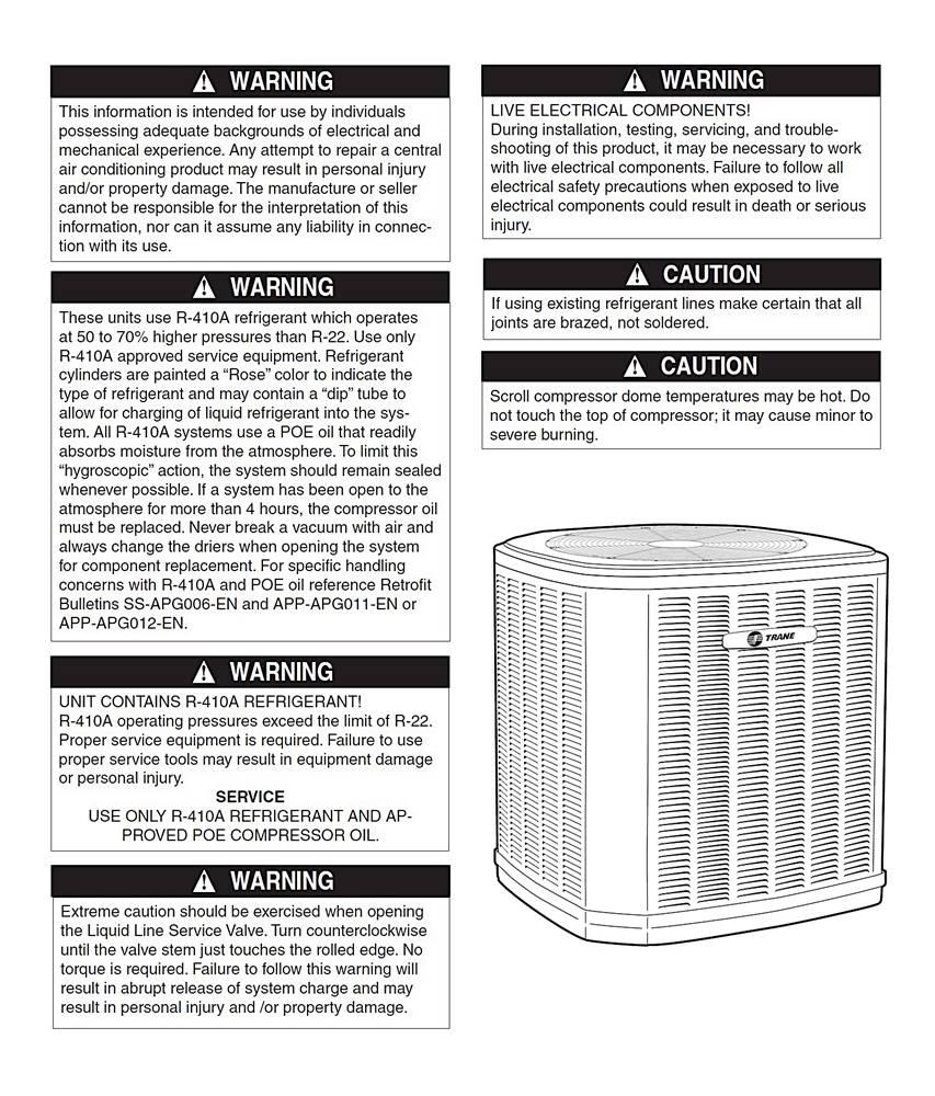 Trane XB13 Air Conditioner Manual