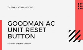 Goodman Ac Unit Reset Button