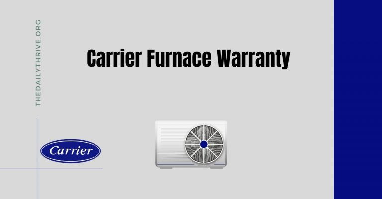 Carrier Furnace Warranty