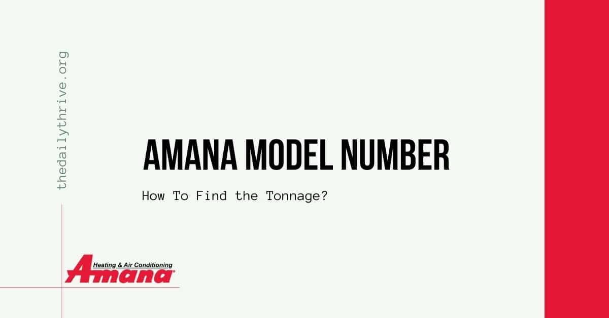 Amana Model Number Lookup