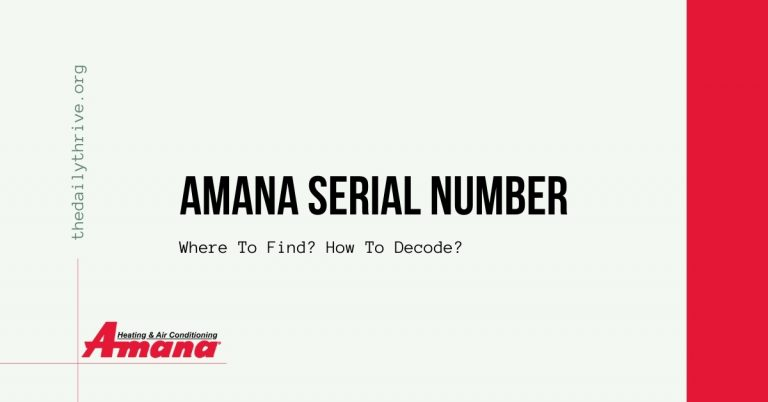 Amana Serial Number Lookup