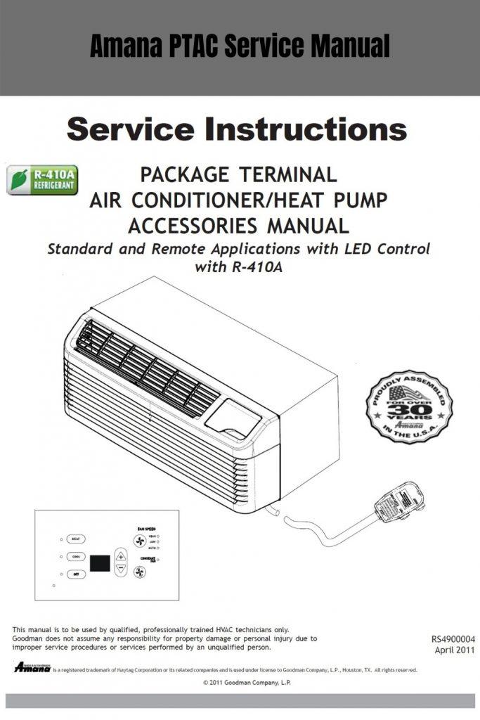 Amana PTAC Service Instruction Manual