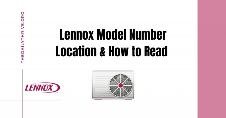 How to Read Lennox Model Number