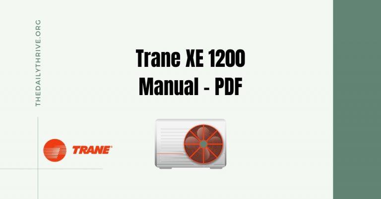 Trane XE1200 Heat Pump Manual (PDF)