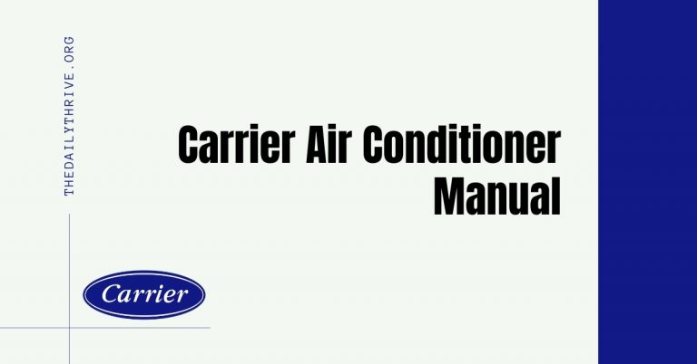 Carrier Air Conditioners Manual