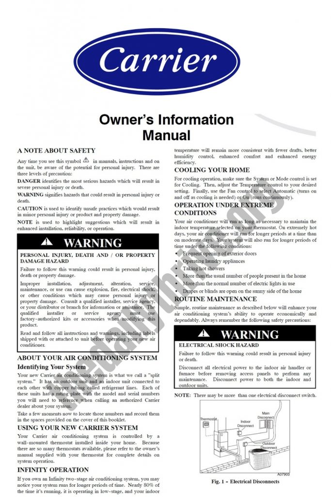 Carrier Air Conditioner Manual