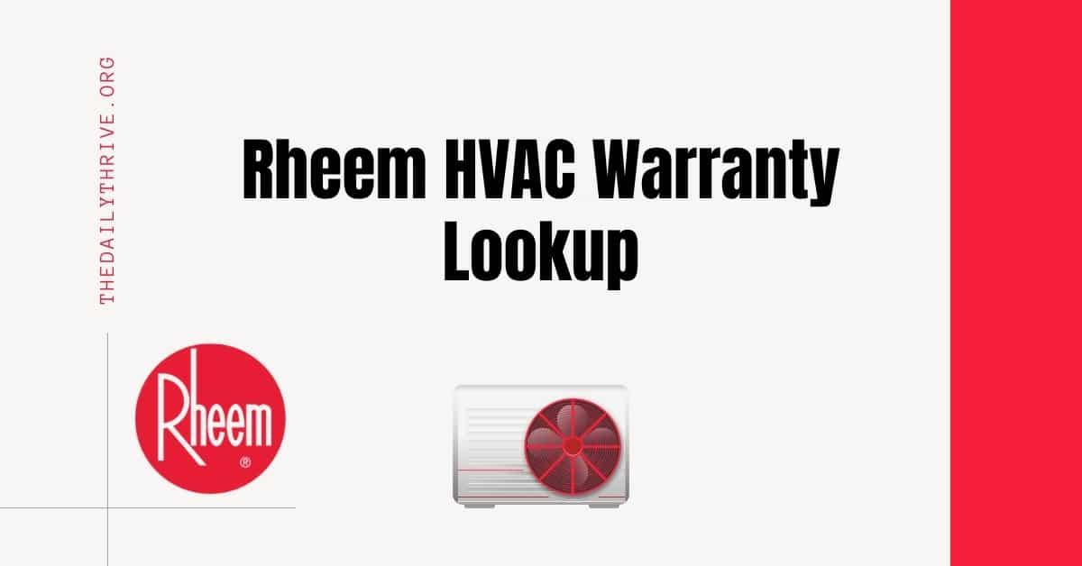 Rheem HVAC Warranty Lookup