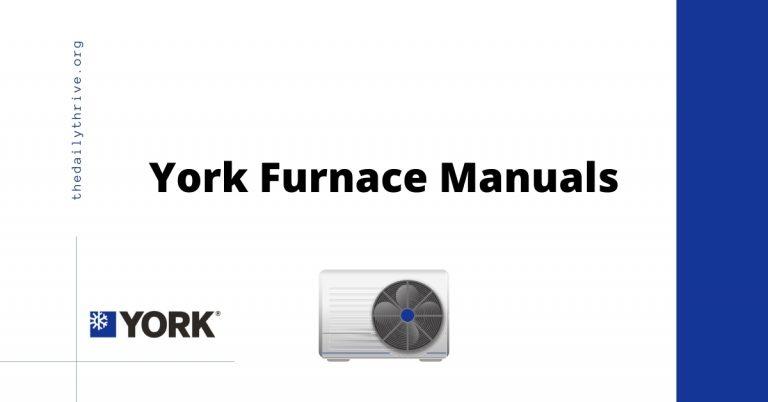 York Furnace Manuals