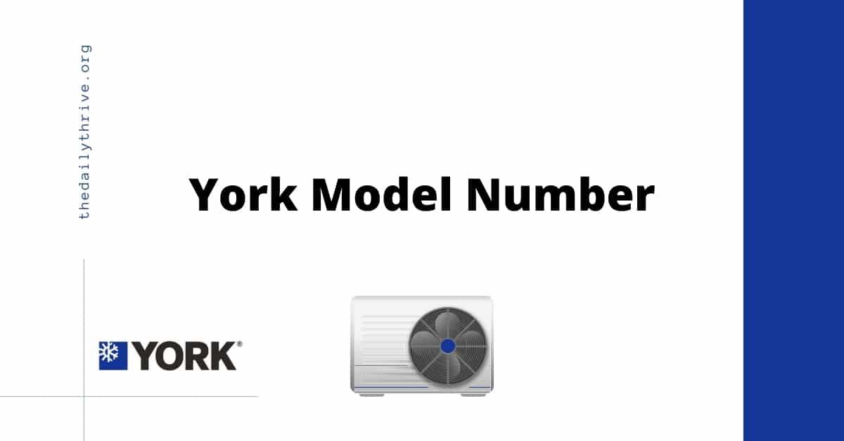 York Model Number Lookup