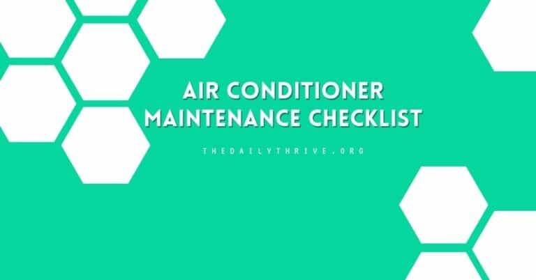 Air Conditioner Maintenance Checklist