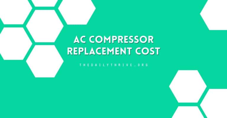Central AC Compressor Replacement Cost