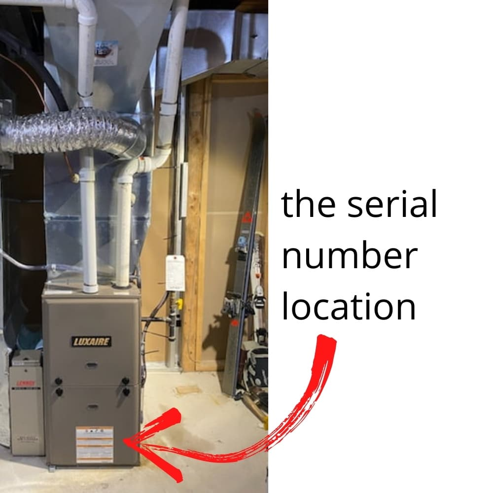 Luxaire Furnace Serial Number Location