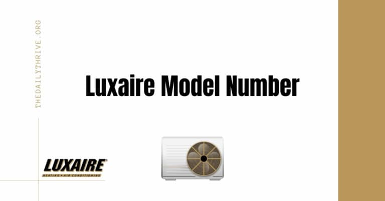 Luxaire Model Number