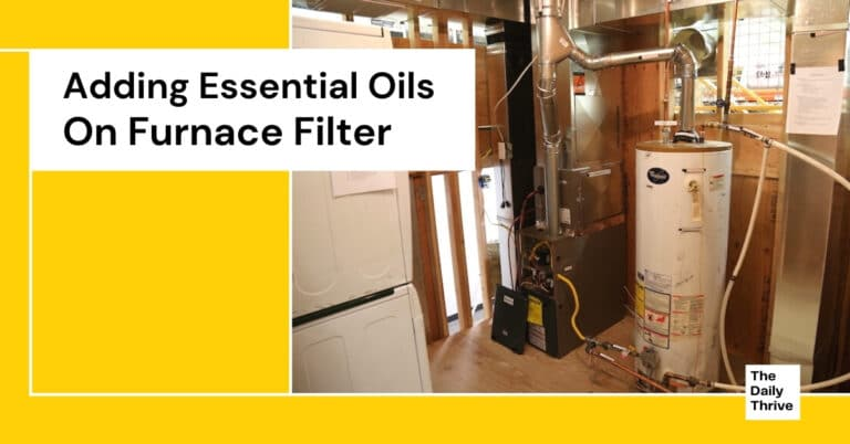 Adding Essential Oils On Furnace Filter