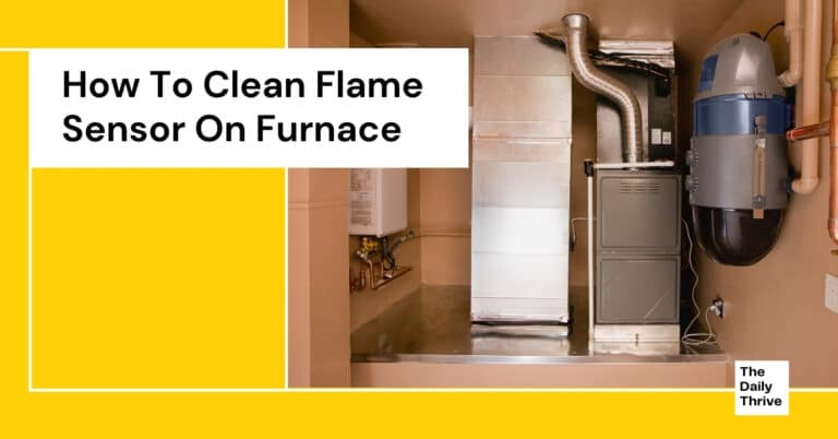 How To Clean Flame Sensor On Furnace
