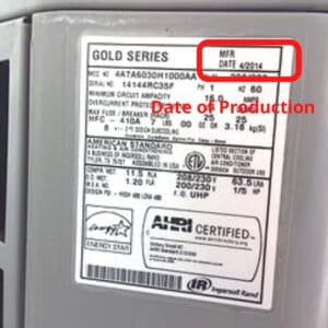 american standard date of production